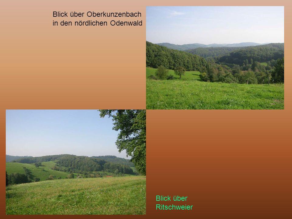 Blick über Oberkunzenbach in den nördlichen Odenwald Blick über Ritschweier