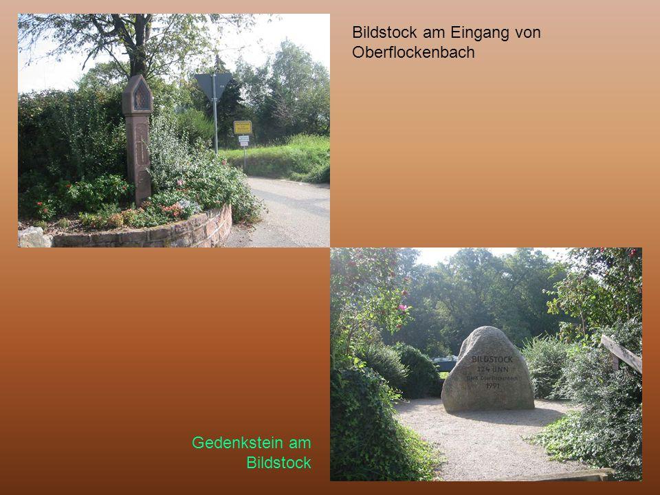 Bildstock am Eingang von Oberflockenbach Gedenkstein am Bildstock