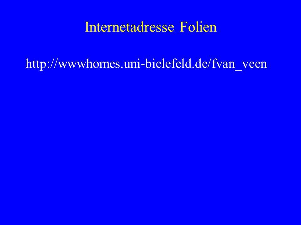 Internetadresse Folien http://wwwhomes.uni-bielefeld.de/fvan_veen