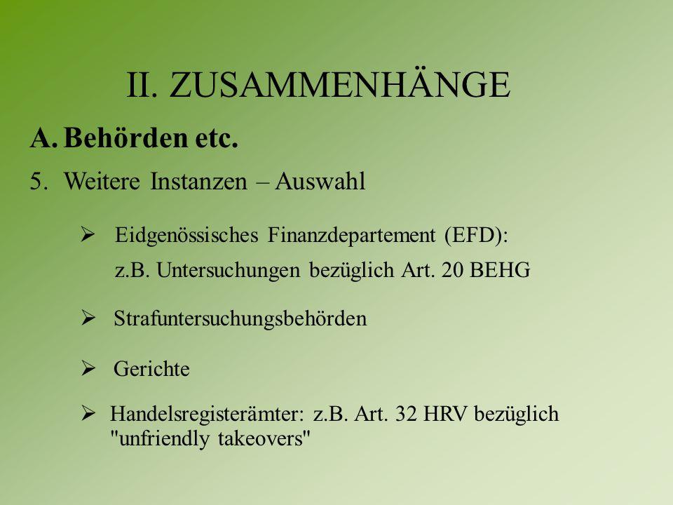  Eidgenössisches Finanzdepartement (EFD): z.B. Untersuchungen bezüglich Art.