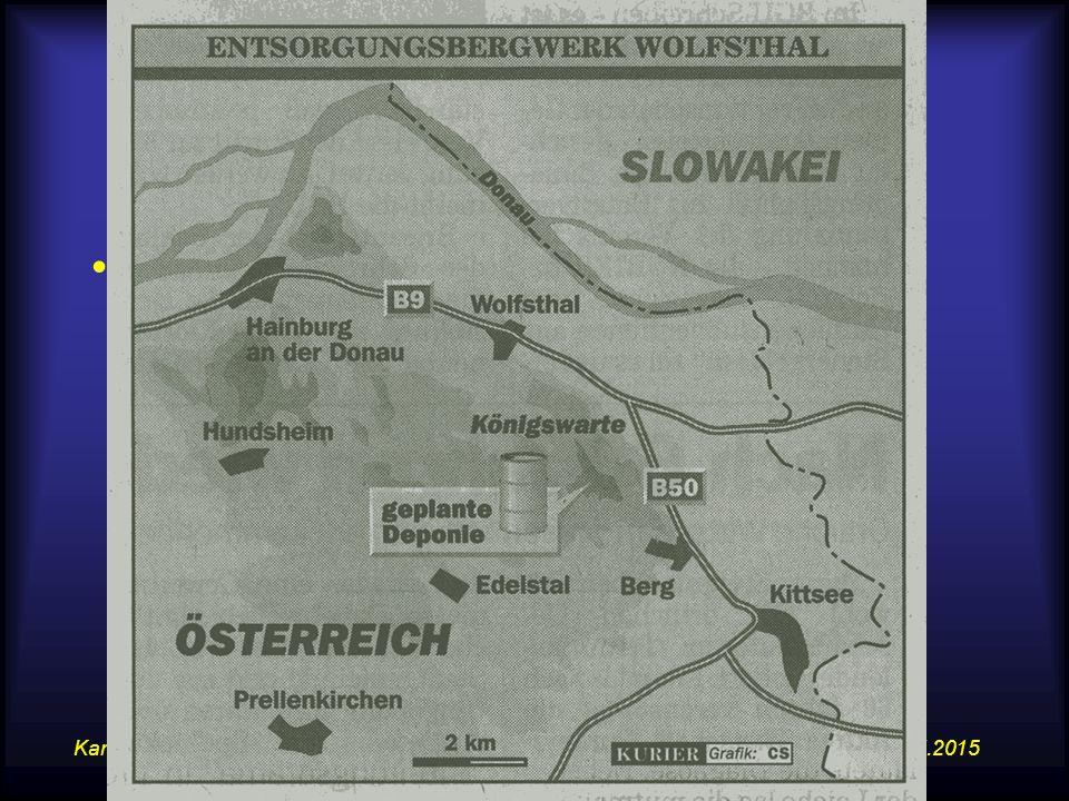 14.07.2015Karte, Atlas und WWW im GW-Unterricht 11 Anregung zur kartographischen Kartenarbeit Entsorgungsbergwerk Wolfsthal –Kurier – 14.