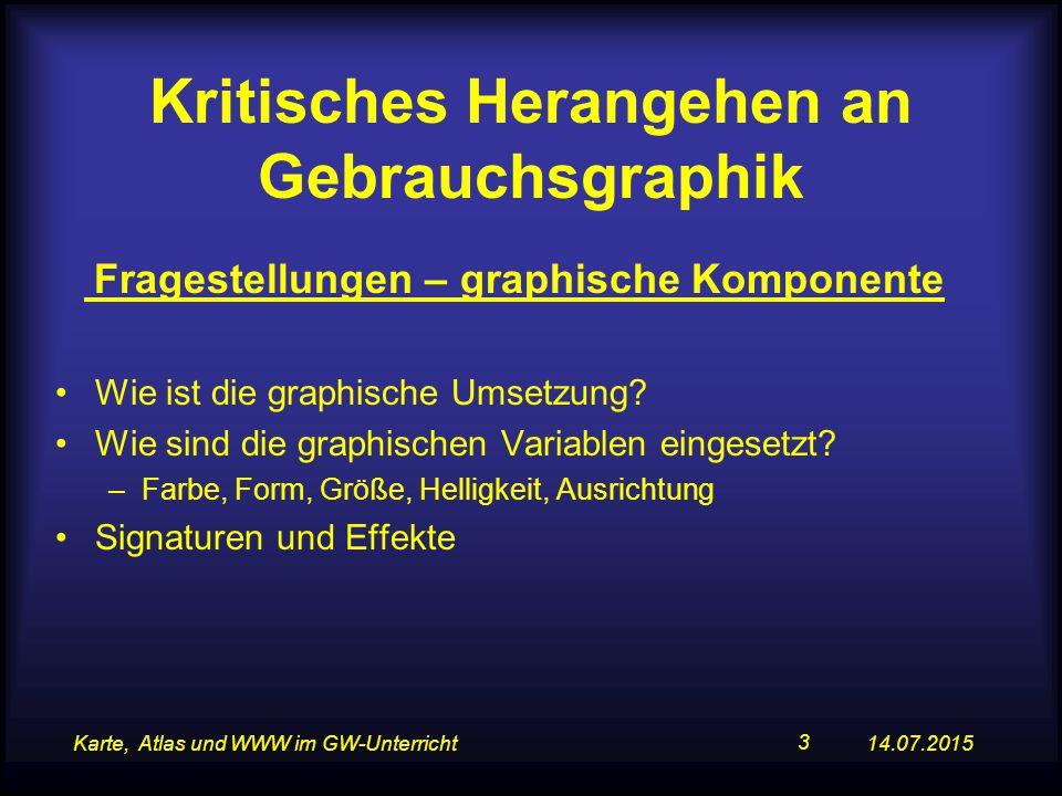 14.07.2015Karte, Atlas und WWW im GW-Unterricht 14 Diagrammmanipulation