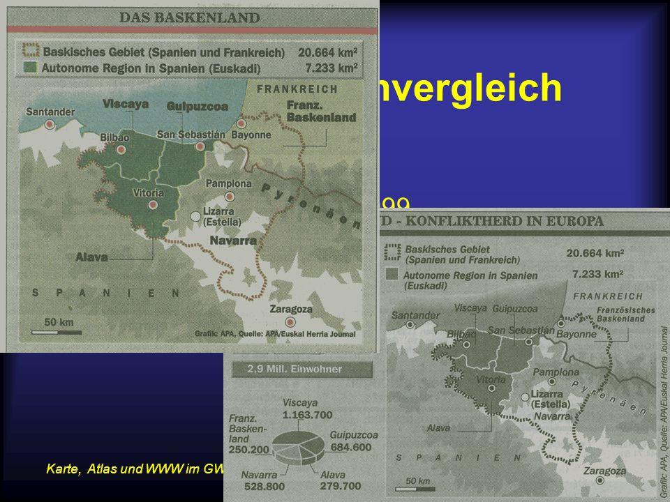 14.07.2015Karte, Atlas und WWW im GW-Unterricht 5 Beispiel Kartenvergleich Das Baskenland –Kurier, 4.