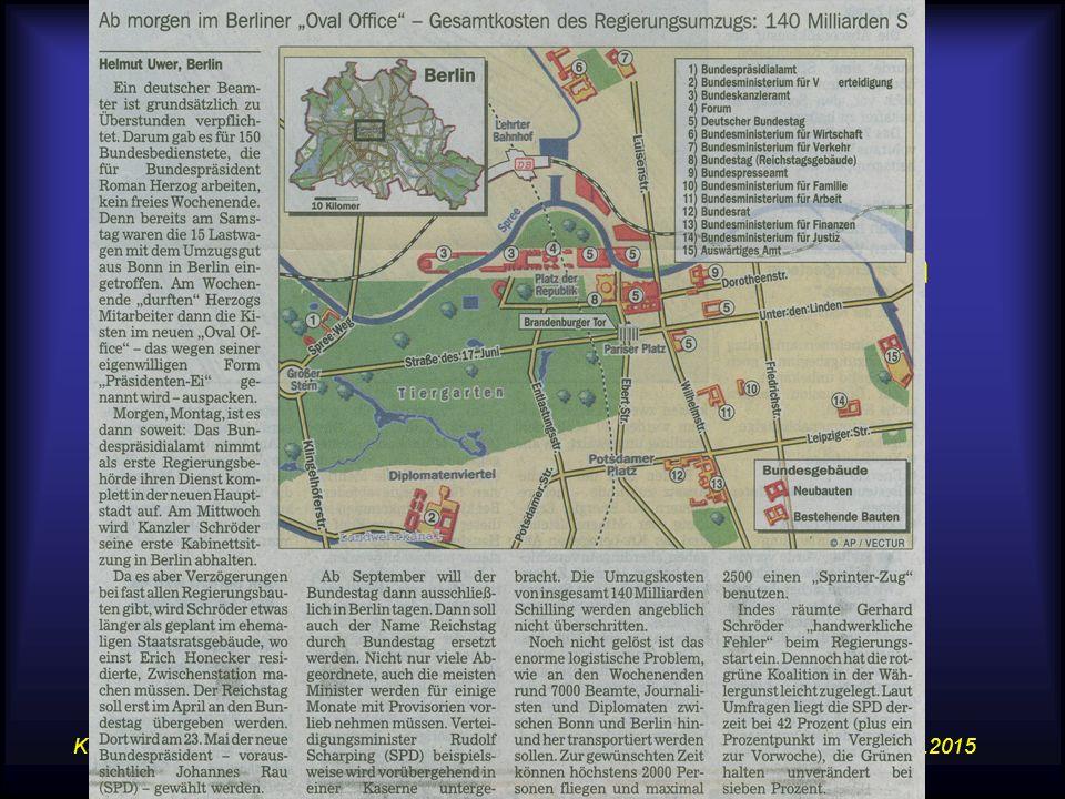 14.07.2015Karte, Atlas und WWW im GW-Unterricht 6 Beispiel – Karte-Text Deutscher Präsident zieht als erster in die neue Hauptstadt –Kurier, 22.