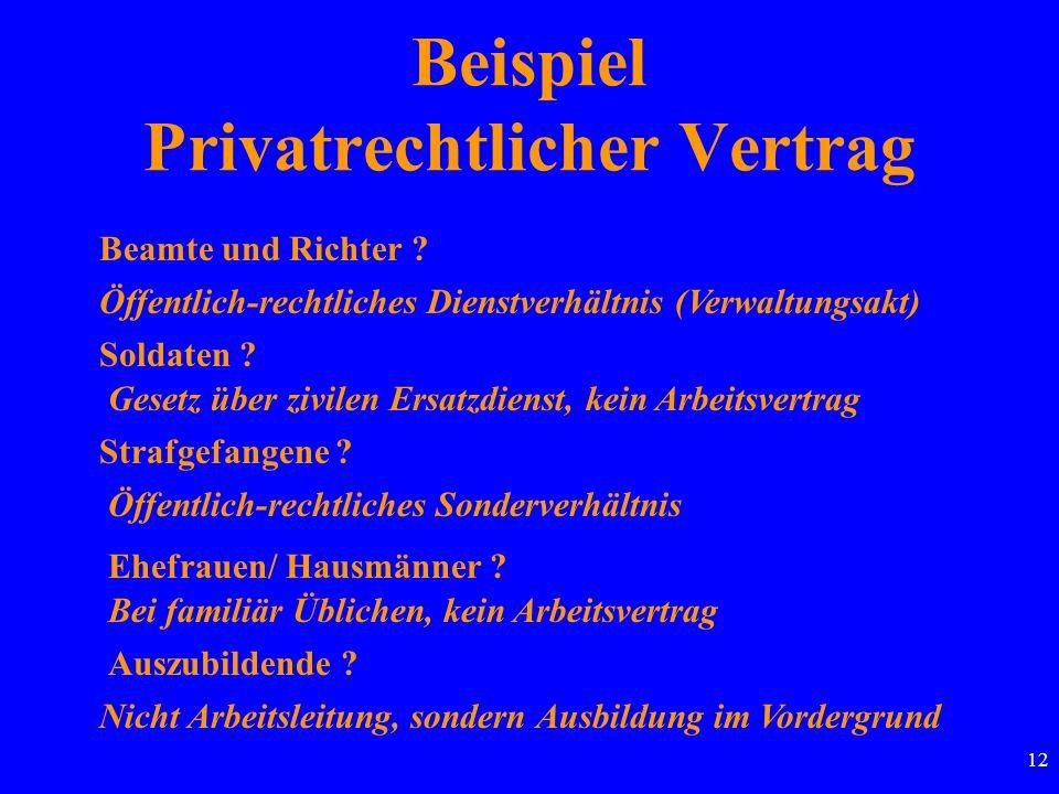 12 Beispiel Privatrechtlicher Vertrag Beamte und Richter .