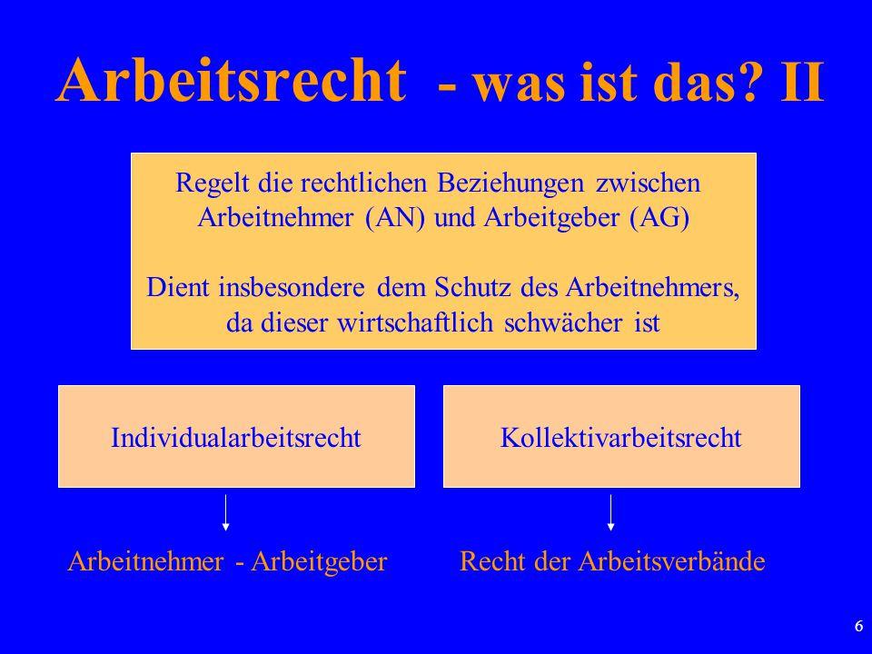 47 Pflichten im Arbeitsverhältnis Hauptpflichten Arbeitspflicht des AN Lohnzahlungspflicht des AG Nebenpflichten z.B.: Treuepflicht
