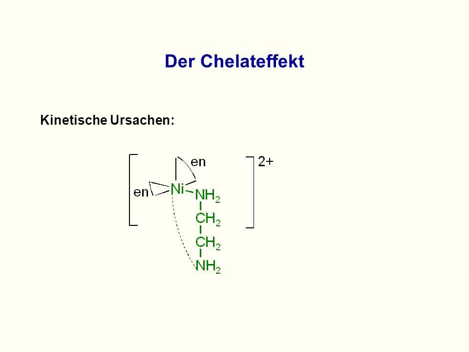 Der Chelateffekt Kinetische Ursachen: