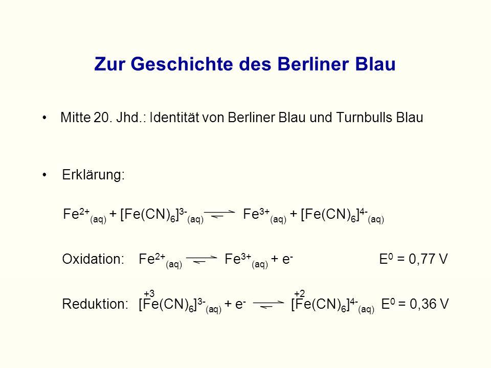 Zur Geschichte des Berliner Blau Mitte 20.