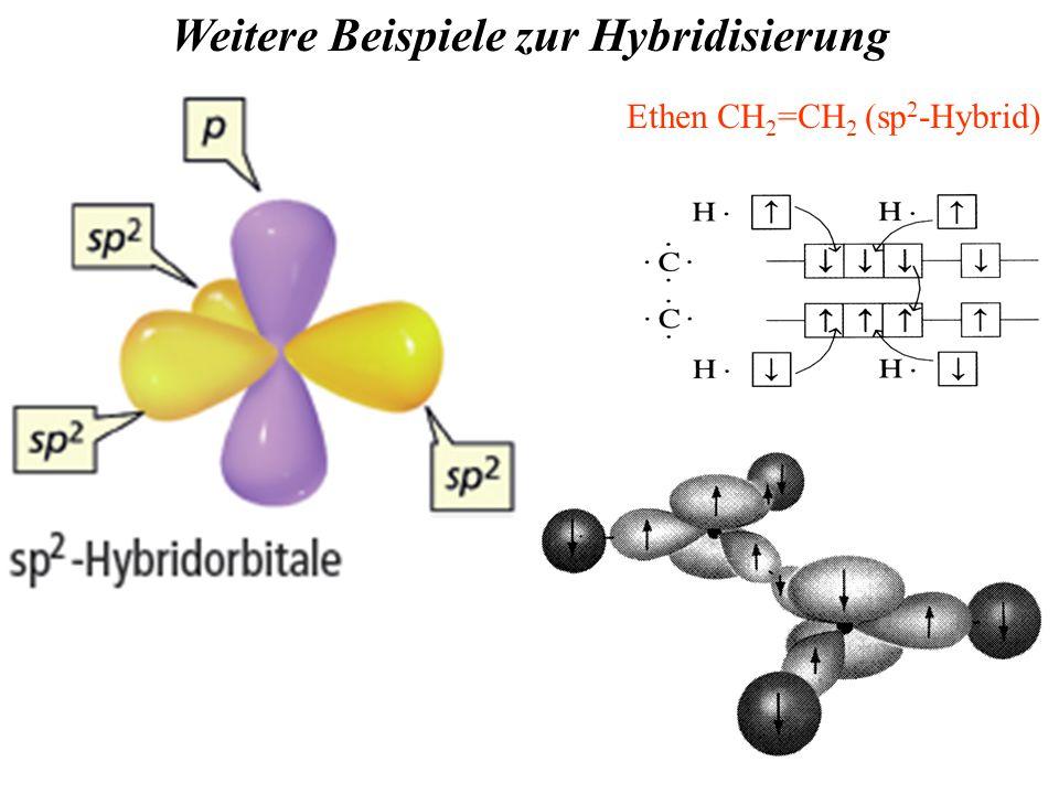 - nicht-hybridisiertes p-Orbital  überlappt seitlich mit dem des benachbarten C-Atoms.