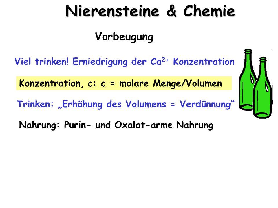 Nierensteine & Chemie Vorbeugung Viel trinken.