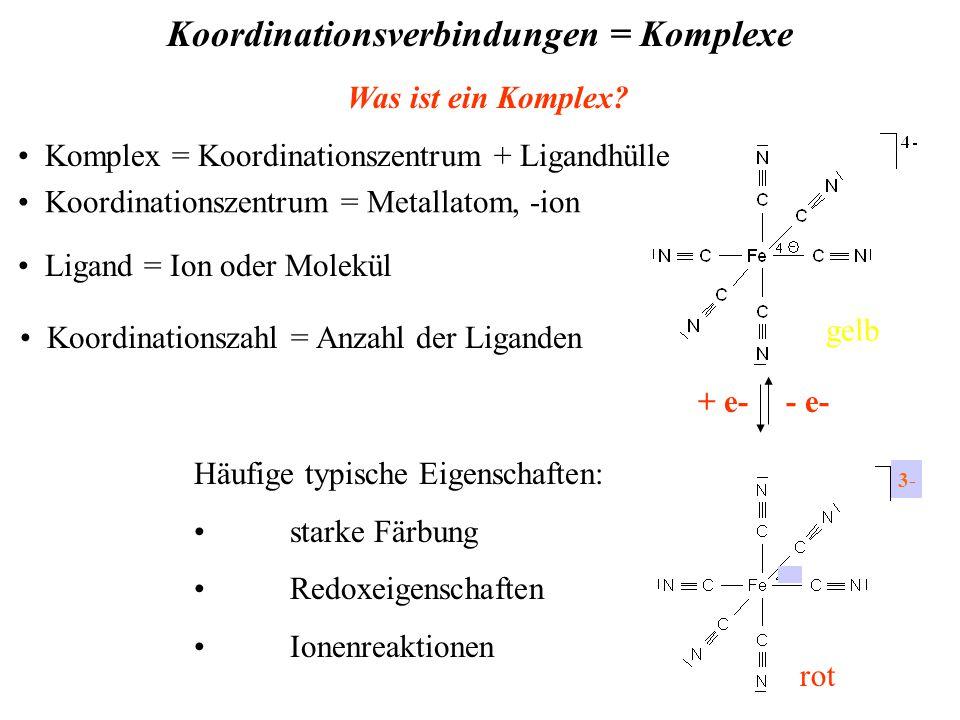 Koordinationsverbindungen = Komplexe Was ist ein Komplex.