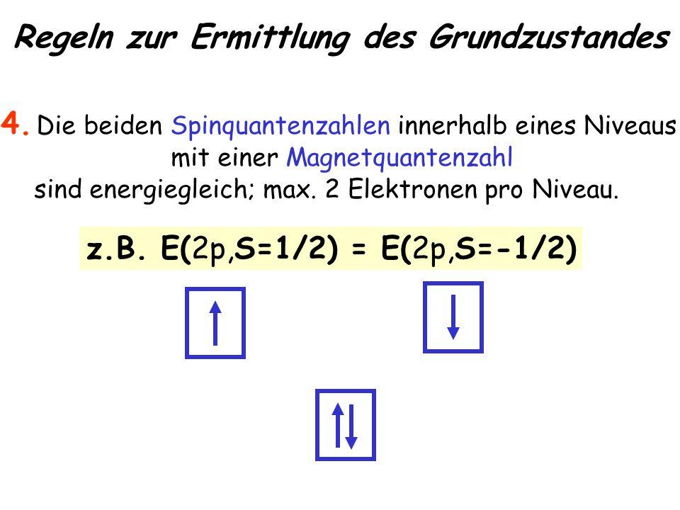 Regeln zur Ermittlung des Grundzustandes 4.