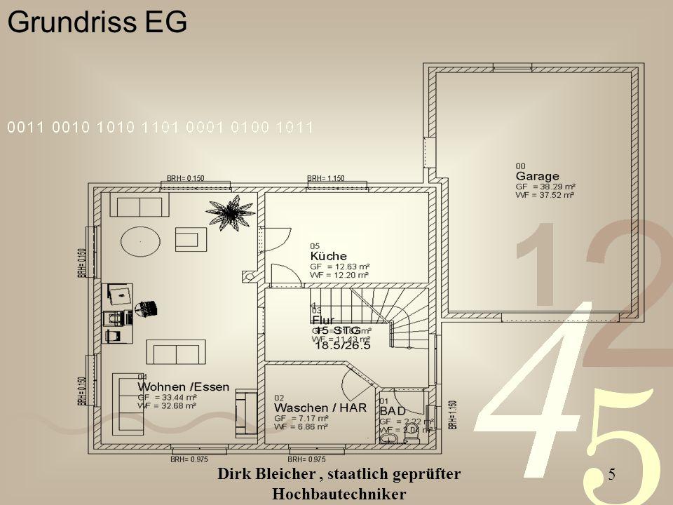 Dirk Bleicher, staatlich geprüfter Hochbautechniker 5 Grundriss EG