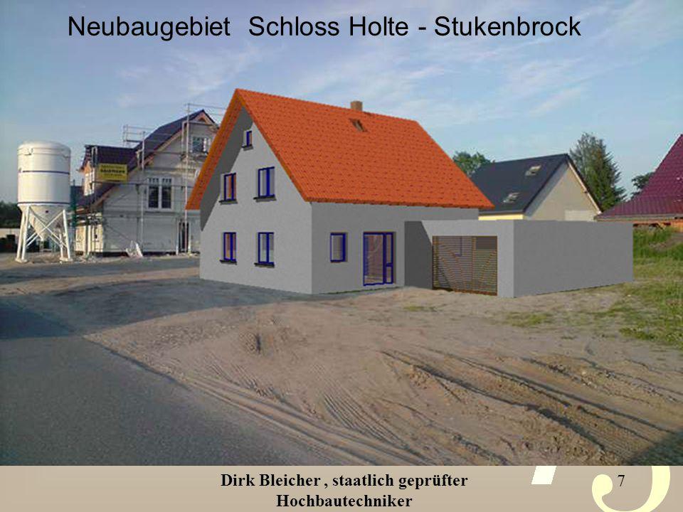 Dirk Bleicher, staatlich geprüfter Hochbautechniker 8 Mit Allplan erstellte Renderbilder Ansicht Ost Ansicht Nord