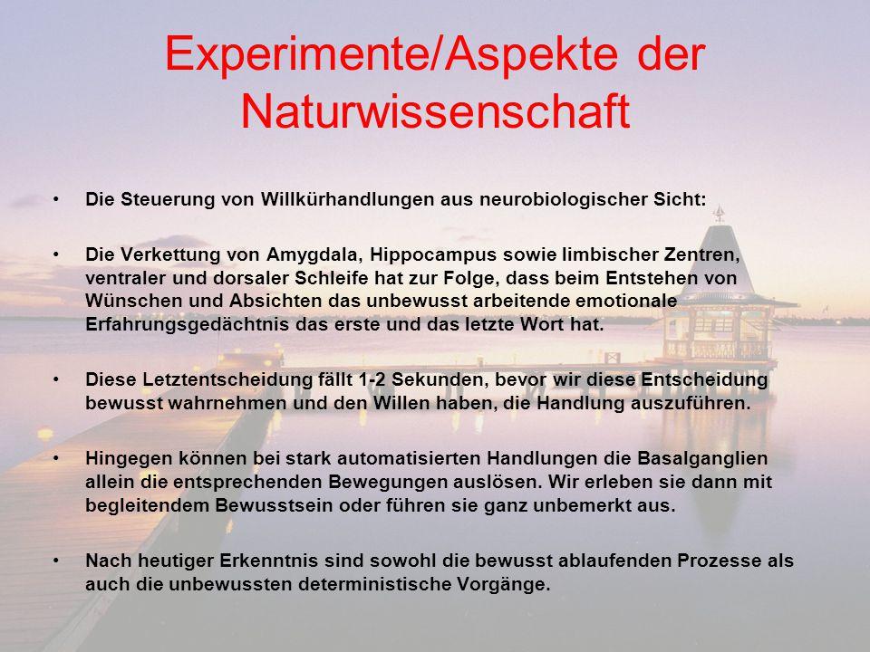 Philosophische Aspekte und Beiträge 1.
