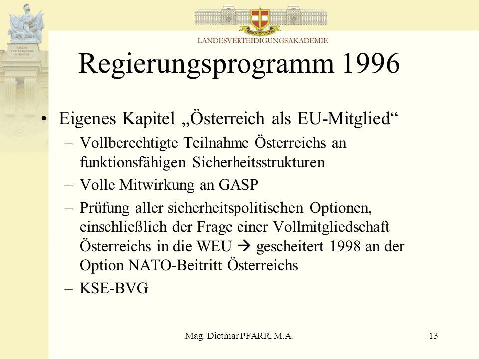 Mag. Dietmar PFARR, M.A.12 XX.