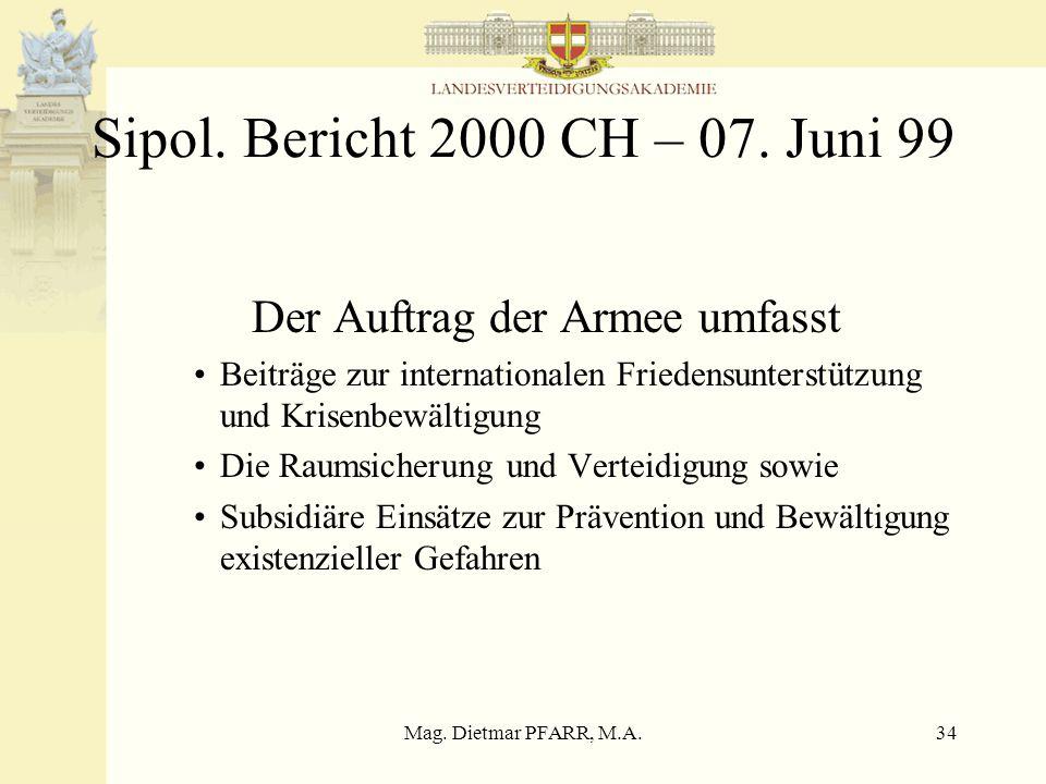 Mag. Dietmar PFARR, M.A.33 Weizsäcker – Bericht 23.