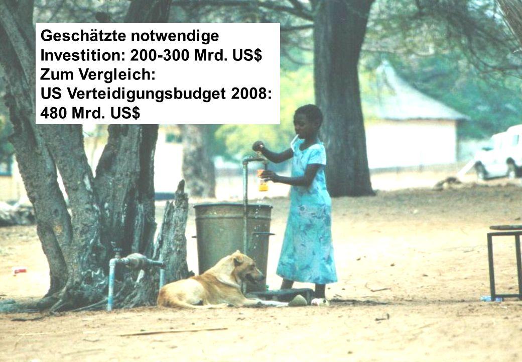 Geschätzte notwendige Investition: 200-300 Mrd. US$ Zum Vergleich: US Verteidigungsbudget 2008: 480 Mrd. US$