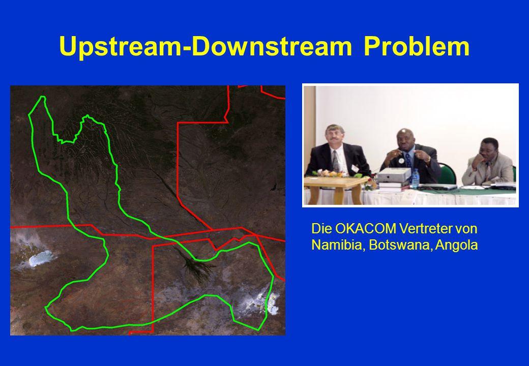 Upstream-Downstream Problem Die OKACOM Vertreter von Namibia, Botswana, Angola