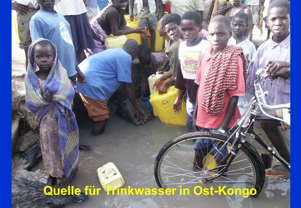 Quelle für Trinkwasser in Ost-Kongo