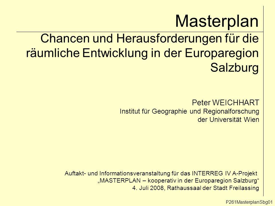Grenzüberschreitende Programmregionen: das Beispiel Basel P261MasterplanSbg12 8.