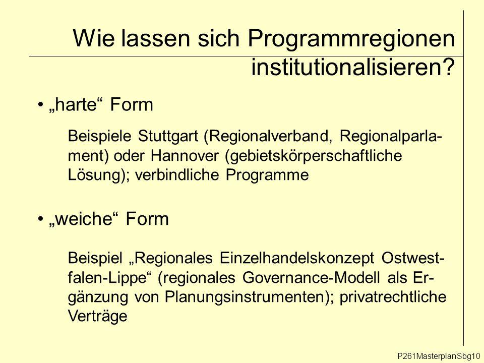 Wie lassen sich Programmregionen institutionalisieren.