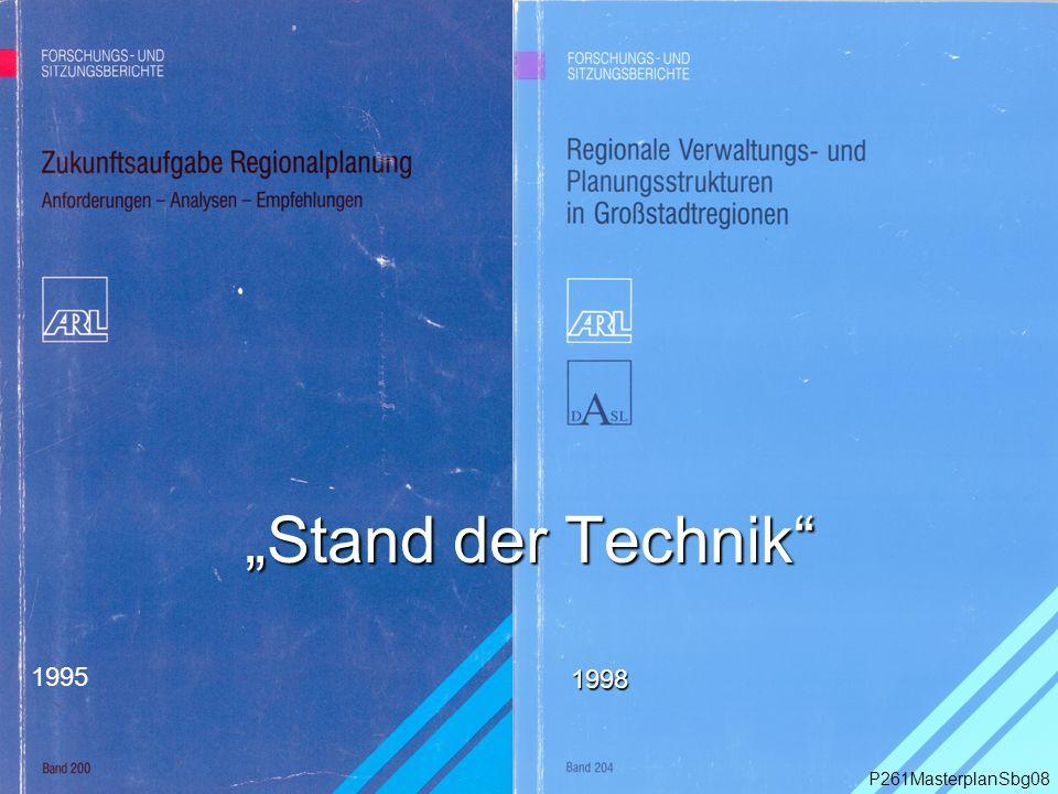 """1995 """"Stand der Technik P261MasterplanSbg08 1998"""