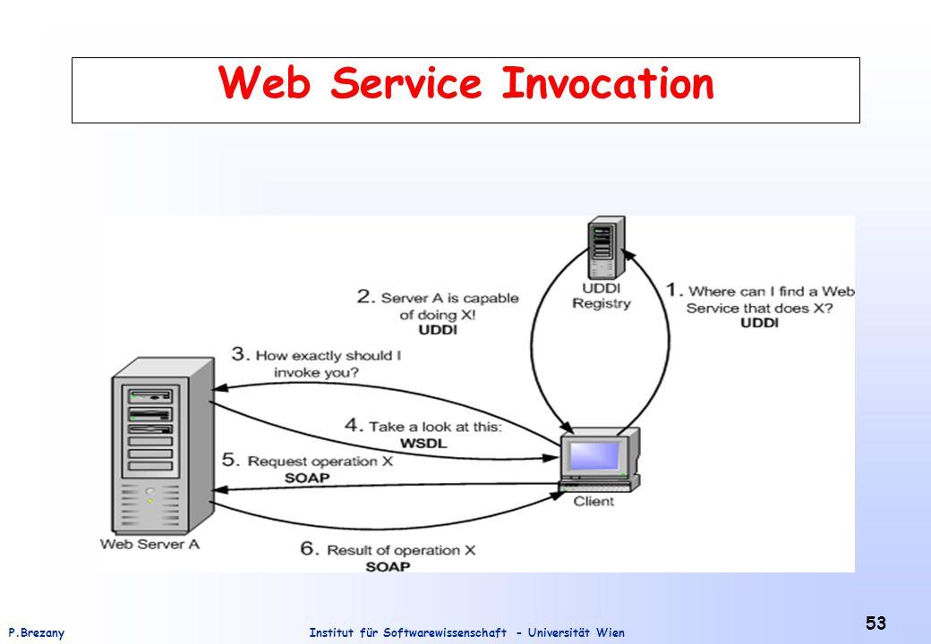 Institut für Softwarewissenschaft - Universität WienP.Brezany 53 Web Service Invocation