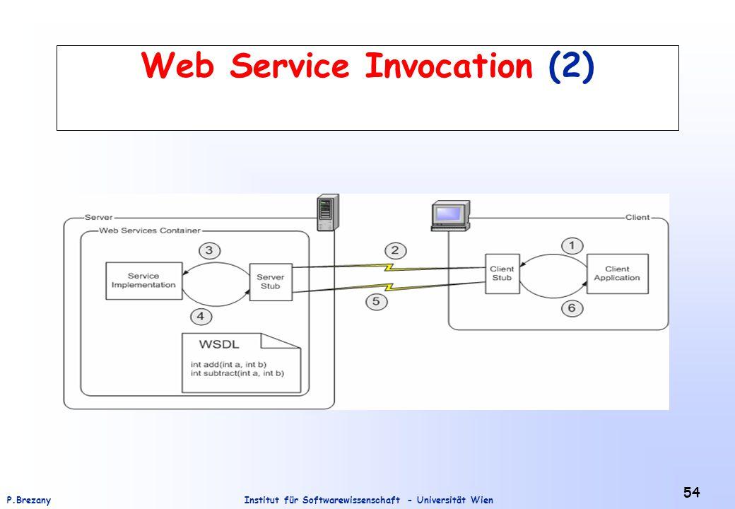 Institut für Softwarewissenschaft - Universität WienP.Brezany 54 Web Service Invocation (2)