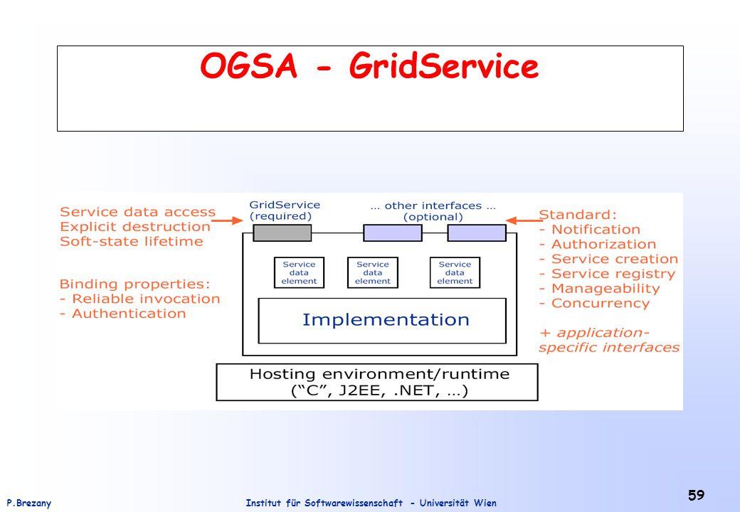 Institut für Softwarewissenschaft - Universität WienP.Brezany 59 OGSA - GridService