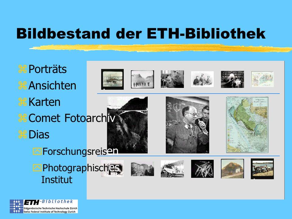Bildbestand der ETH-Bibliothek zPorträts zAnsichten zKarten zComet Fotoarchiv zDias yForschungsreis en yPhotographisch es Institut