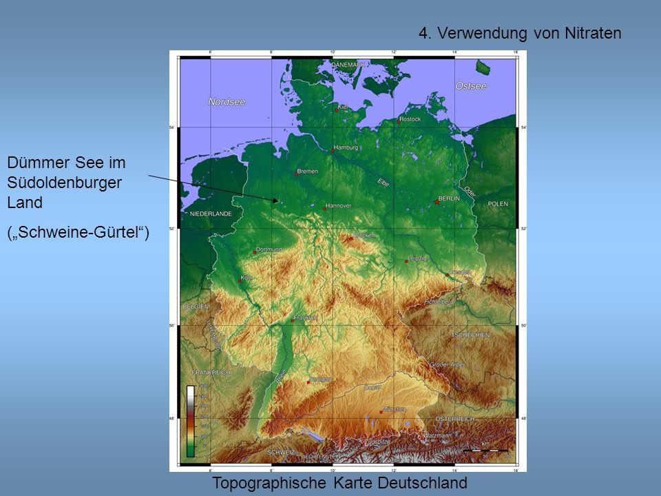 """Topographische Karte Deutschland Dümmer See im Südoldenburger Land (""""Schweine-Gürtel )"""