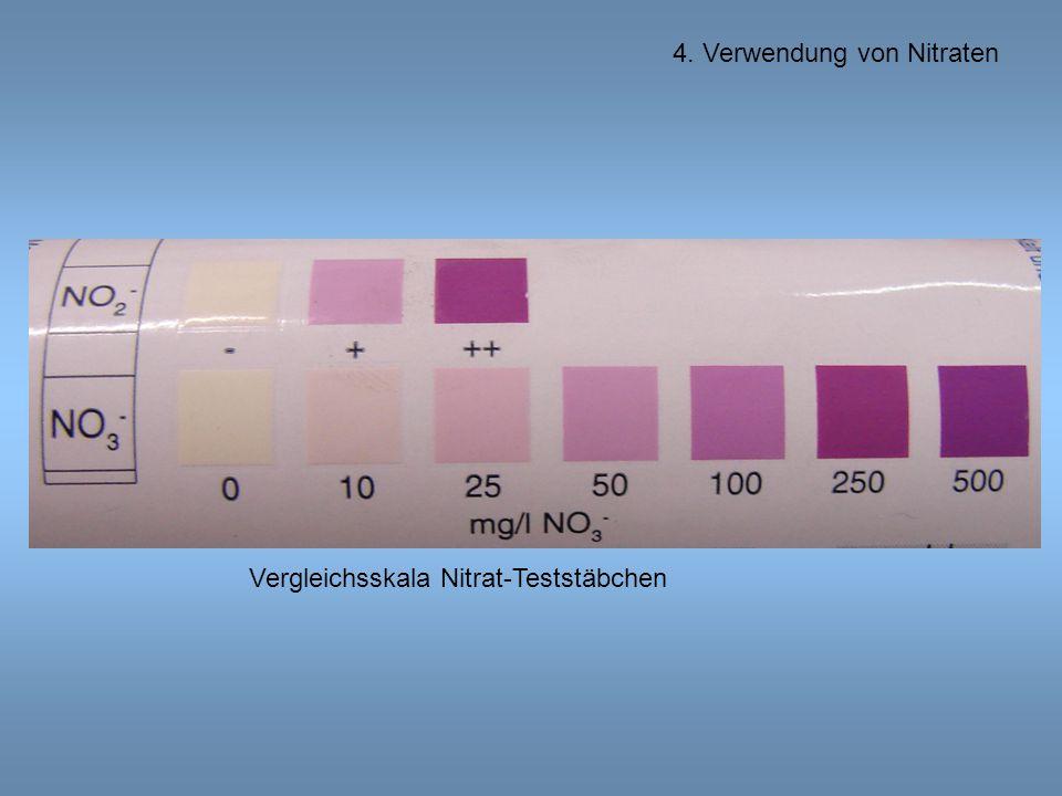 Vergleichsskala Nitrat-Teststäbchen