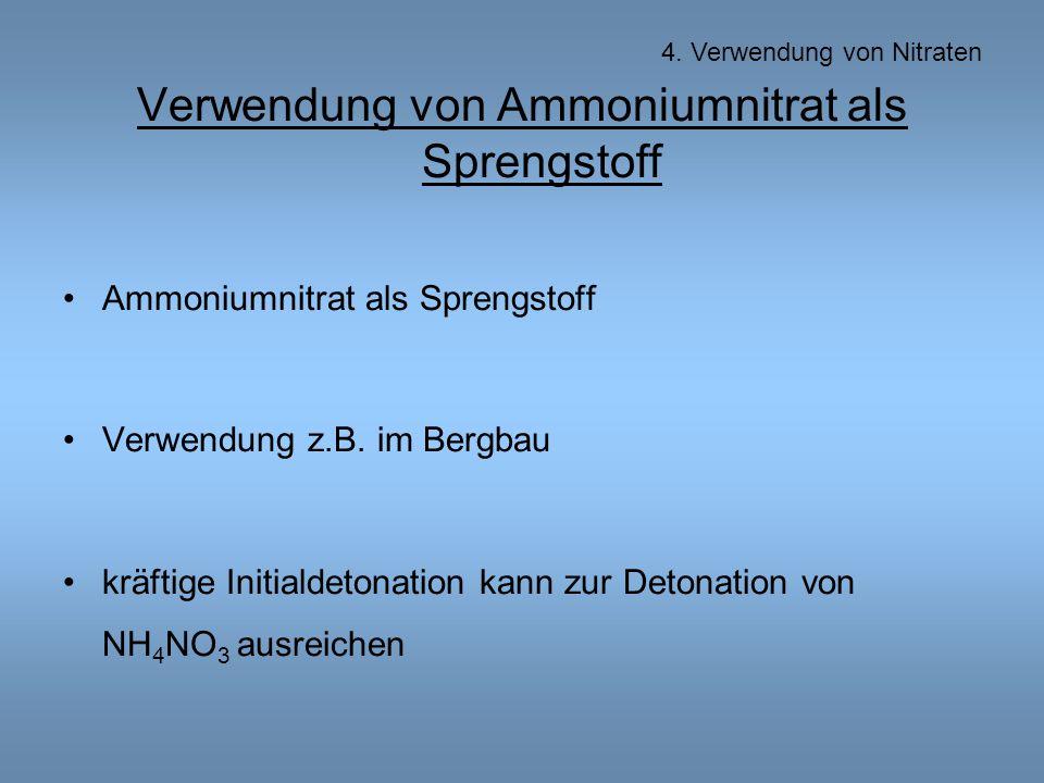 Verwendung von Ammoniumnitrat als Sprengstoff Ammoniumnitrat als Sprengstoff Verwendung z.B.