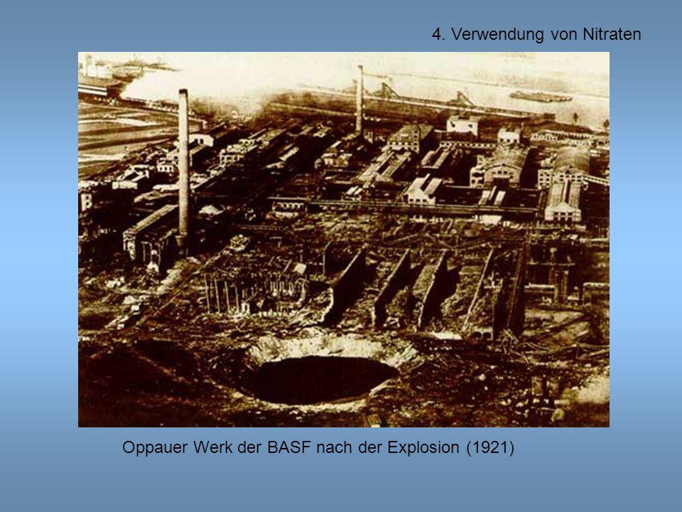Oppauer Werk der BASF nach der Explosion (1921)