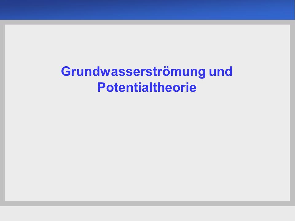 Universität der Bundeswehr München Institut für Bodenmechanik und Grundbau -22- Durch eine Stromröhre fließende Wassermenge allgemein gilt: m … Anzahl der Stromröhren (Gesamtmenge) Formfaktor b l Grundwasserströmung & Potentialtheorie