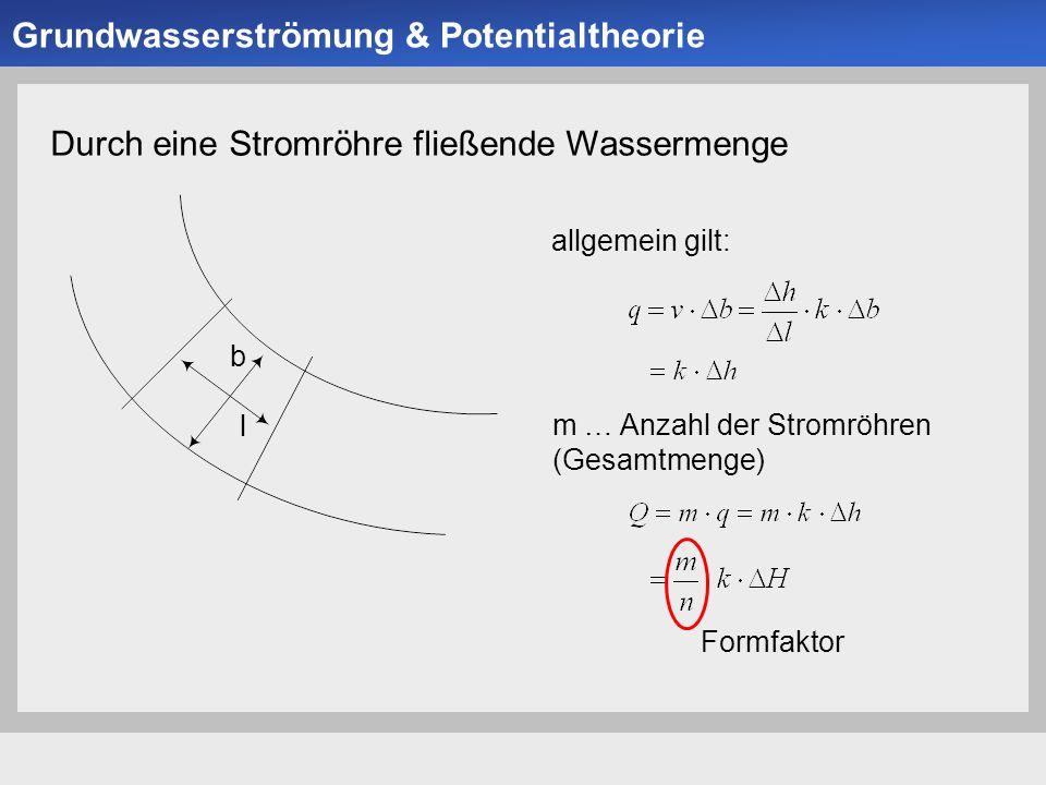 Universität der Bundeswehr München Institut für Bodenmechanik und Grundbau -22- Durch eine Stromröhre fließende Wassermenge allgemein gilt: m … Anzahl