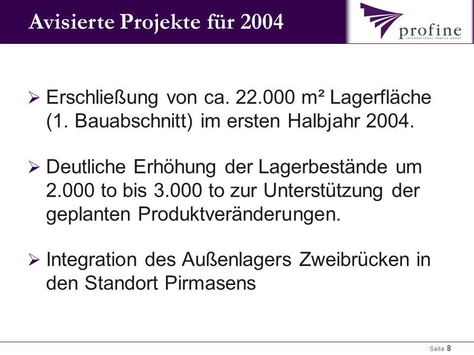 Seite 8  Erschließung von ca.22.000 m² Lagerfläche (1.
