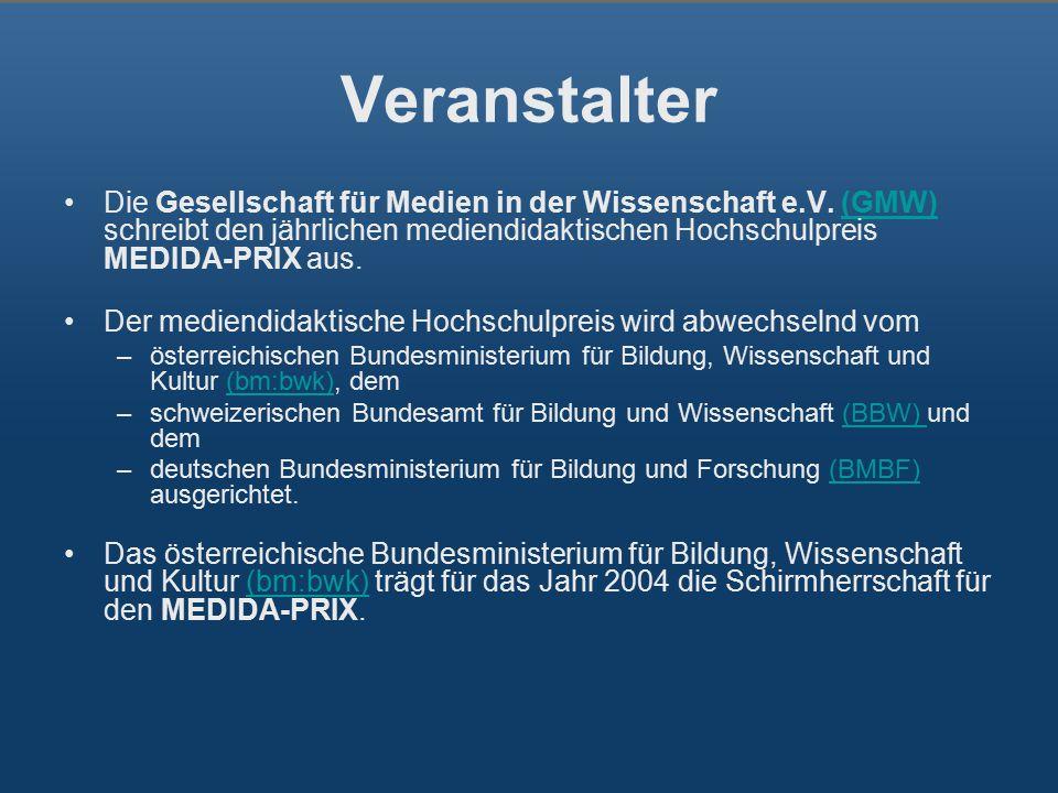 Veranstalter Die Gesellschaft für Medien in der Wissenschaft e.V.