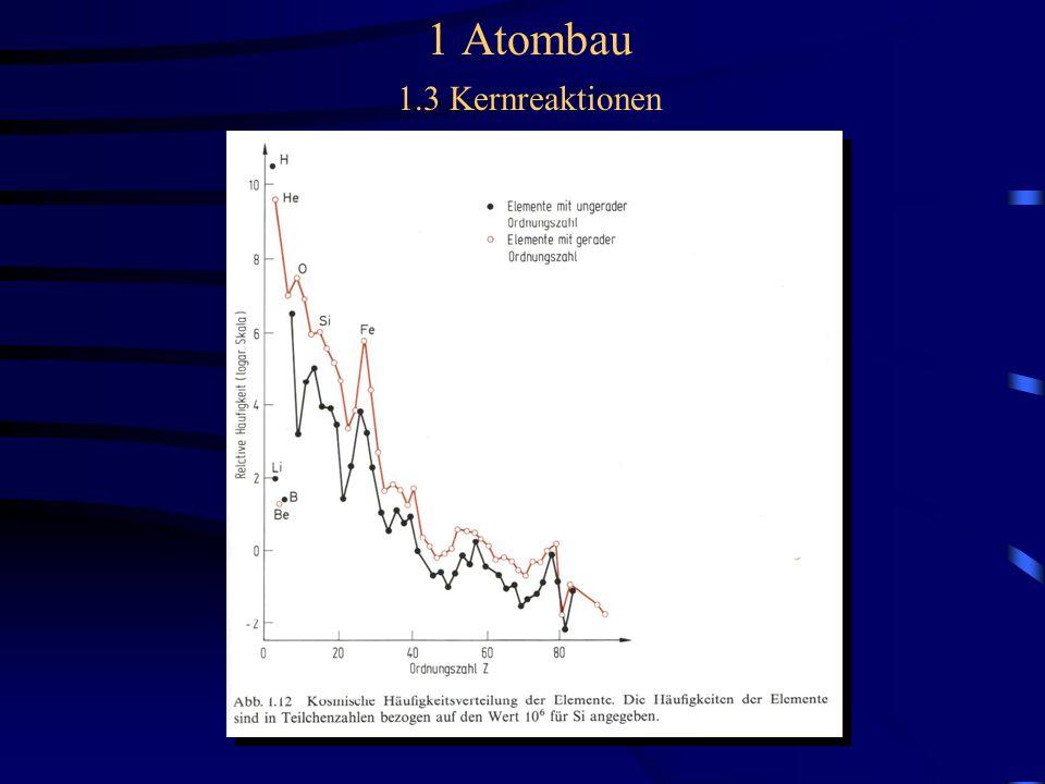 1 Atombau 1.3 Kernreaktionen