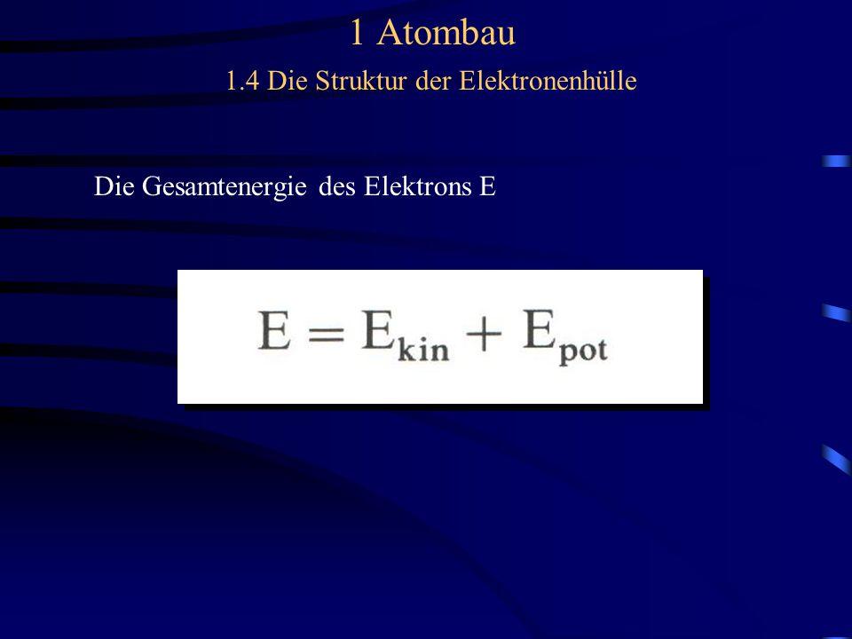 Die Gesamtenergie des Elektrons E