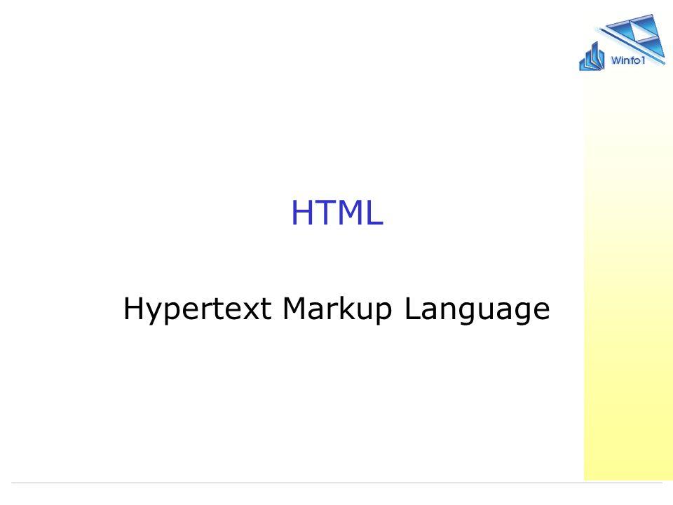 2006-10-23 Wirtschaftsinformatik 1 10 HTML - Definition Anmerkung: Wir werden uns im Praktikum an die XHTML 1.0 – Konventionen halten.