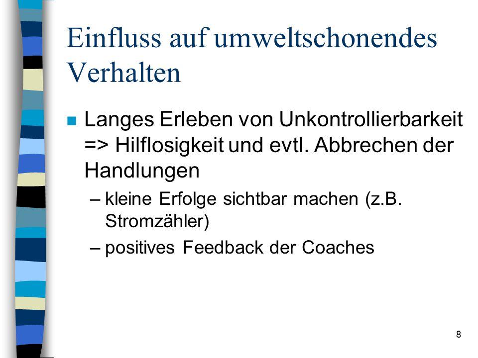 18 Umsetzung (I) n Informationen von Coaches