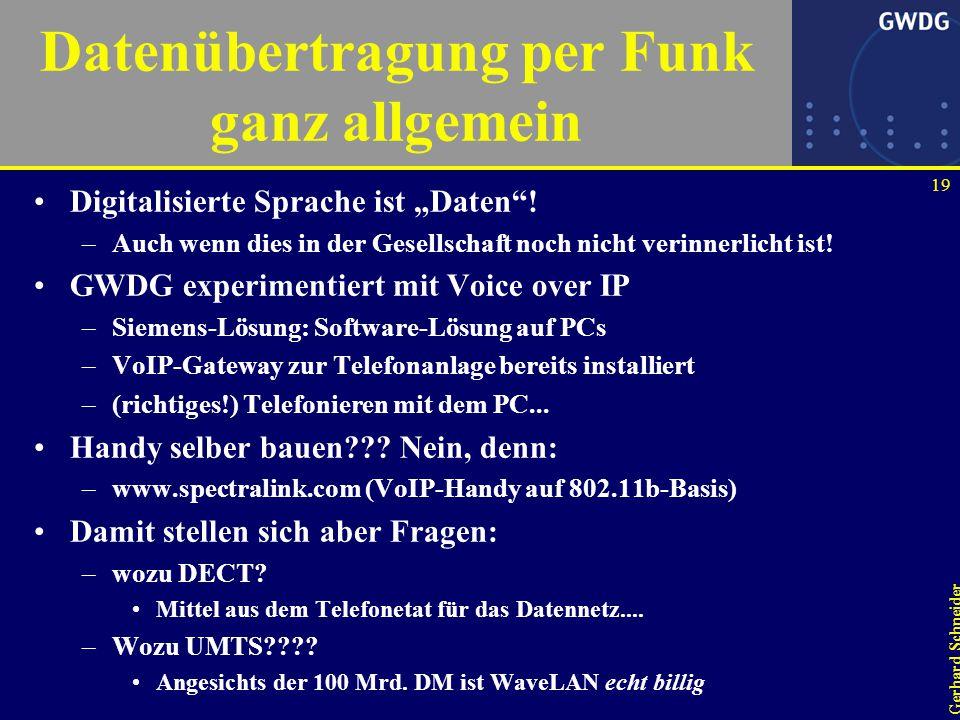 18 Gerhard Schneider Arbeitsplatz der Zukunft Voice over IP Endlich aufgeräumt