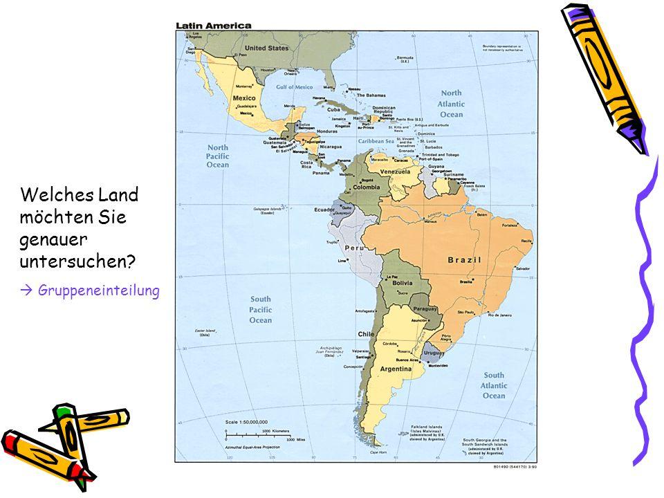 Welches Land möchten Sie genauer untersuchen?  Gruppeneinteilung