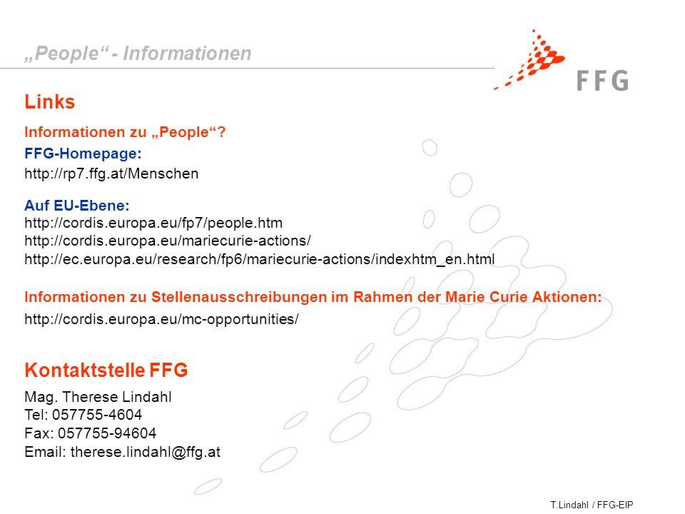 "T.Lindahl / FFG-EIP Links ""People - Informationen Informationen zu ""People ."