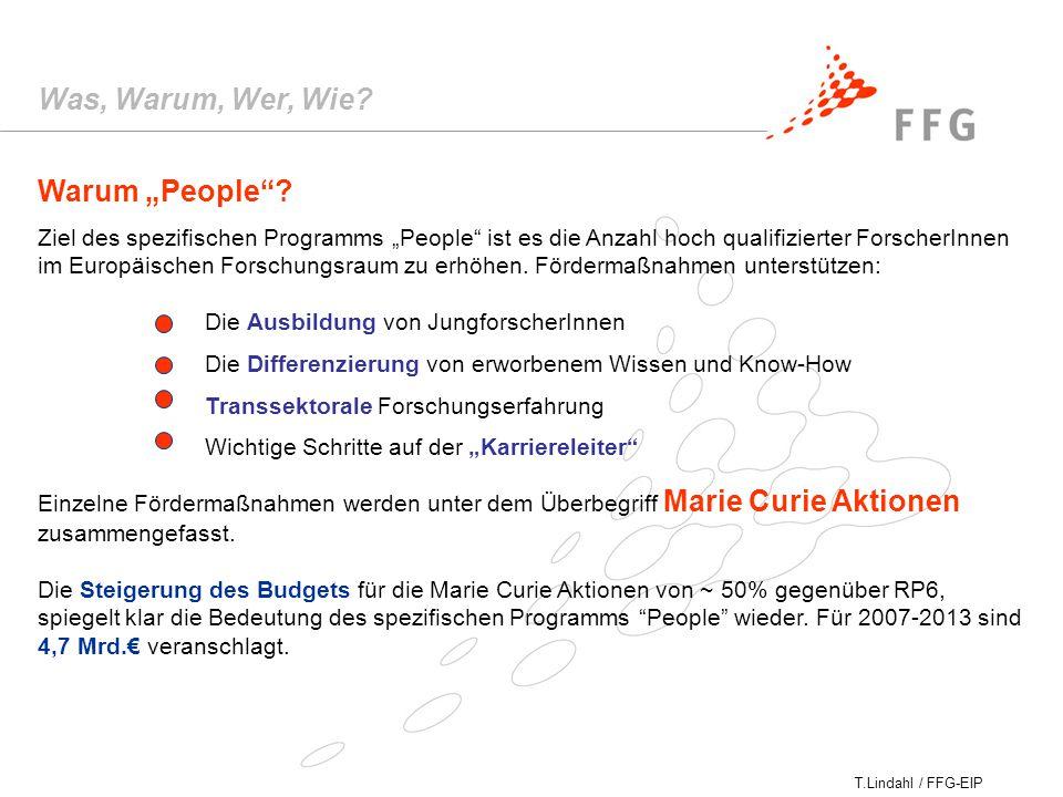 "T.Lindahl / FFG-EIP Warum ""People ."