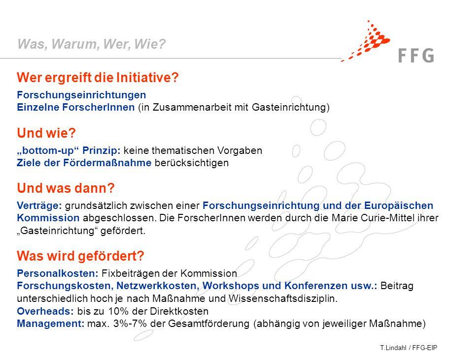 T.Lindahl / FFG-EIP Wer ergreift die Initiative.
