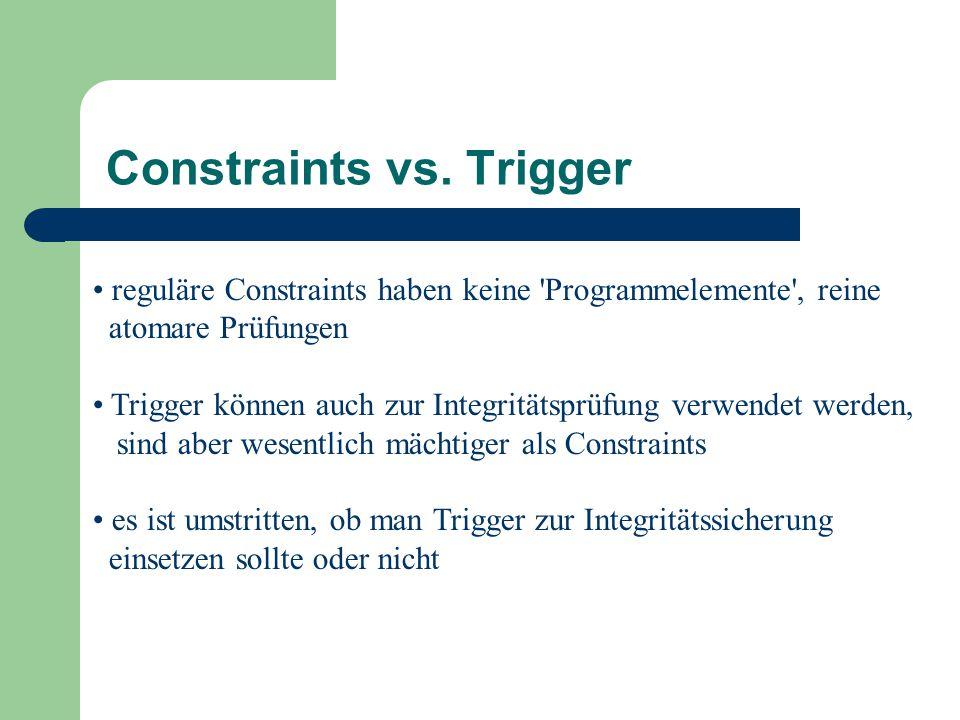 Constraints vs.