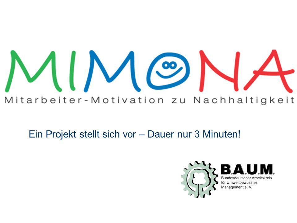Folie 2 von 30 MIMONA widmet sich der Frage: Wie können Mitarbeiter für nachhaltiges Handeln motiviert werden?